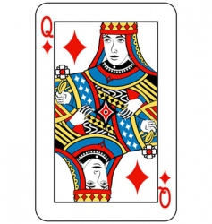 queen of diamonds vector image