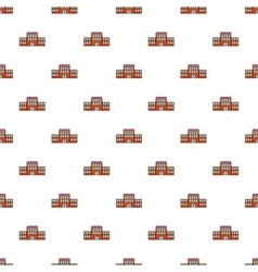 Railway station pattern cartoon style vector