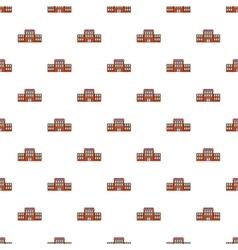 Railway station pattern cartoon style vector image vector image