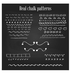 Real chalk patterns vector image