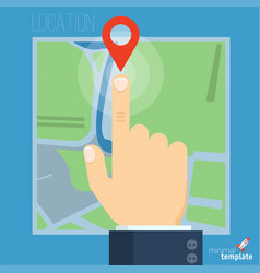 route planning concept vector image vector image