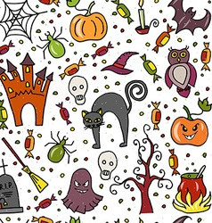 seamless template for halloween party vector image