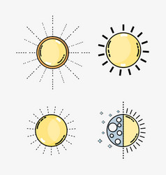 set weather conditions and natural temperature vector image