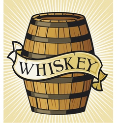whiskey label vector image vector image
