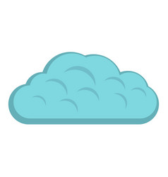 Winter cloud icon isolated vector