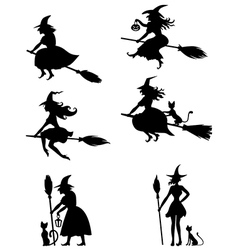 Witch set vector