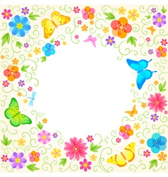 Summer floral design vector
