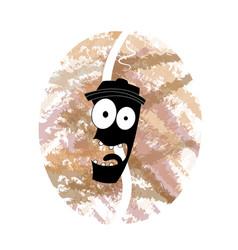 coffee cartoon icon vector image