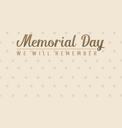 Memorial day style banner collection vector