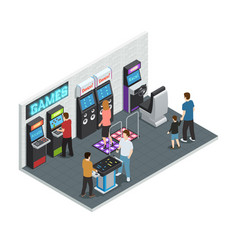 Game club interior concept vector