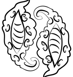 Abstract monochromatic ornament2 vector