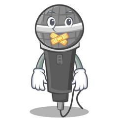 Silent microphone cartoon character design vector