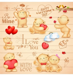 Teddy bear for love background vector