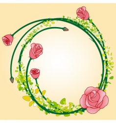 rose border vector image