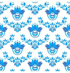 Seamless pattern in style gzhel vector