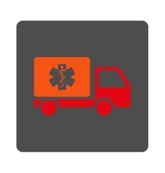 Medical shipping rounded square button vector