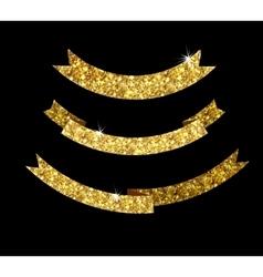 Ribbon of gold glittering star vector