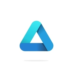 Triangle logo with rounded corners isolated vector