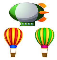 A set of hot air balloons vector