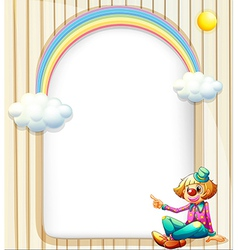 An empty surface with a female clown vector image vector image