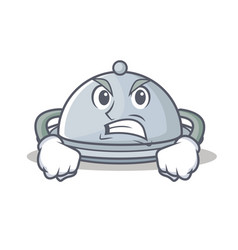 Angry tray character cartoon style vector