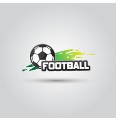 Ball symbol Football Logo Badge Sport emblem vector image