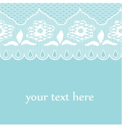 Blue lace vector