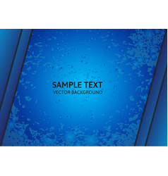 Bright blue abstract background with copy space vector