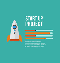 Business infographic design with rocket vector