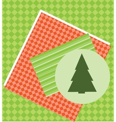 Christmas Tree Card Template vector image vector image