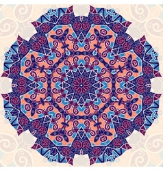 Colorful mandala Ethnic ornament Template for vector image