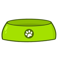 Empty Dog Bowl vector image vector image