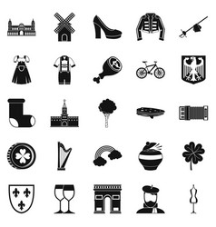Excellent wine icons set simple style vector