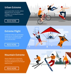 Extreme sports people banners vector