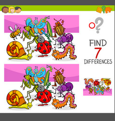 find differences with insects animal characters vector image vector image