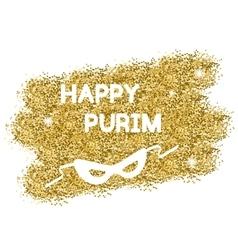 Golden purim background vector