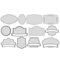 Grey labels vector image vector image
