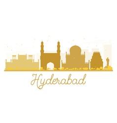 Hyderabad city skyline golden silhouette vector