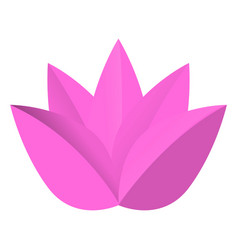 Isolated lotus logo vector
