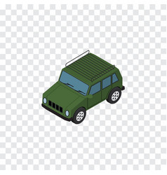 Isolated suv isometric armored element ca vector