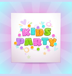 Kids party square banner vector