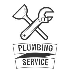 Plumbing service insignia vector image vector image