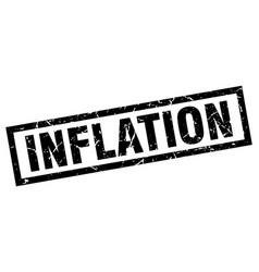 Square grunge black inflation stamp vector