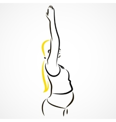 Stretching hands vector