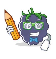 Student blackberry character cartoon style vector