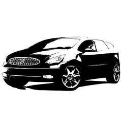SUV car vector image vector image