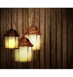 Wood texture dark with lights vector