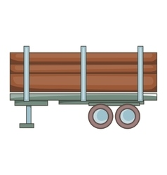 Logging truck icon cartoon style vector