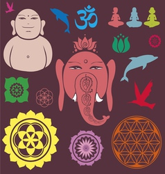 Ganesh collection vector image
