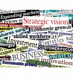 business word collage vector image